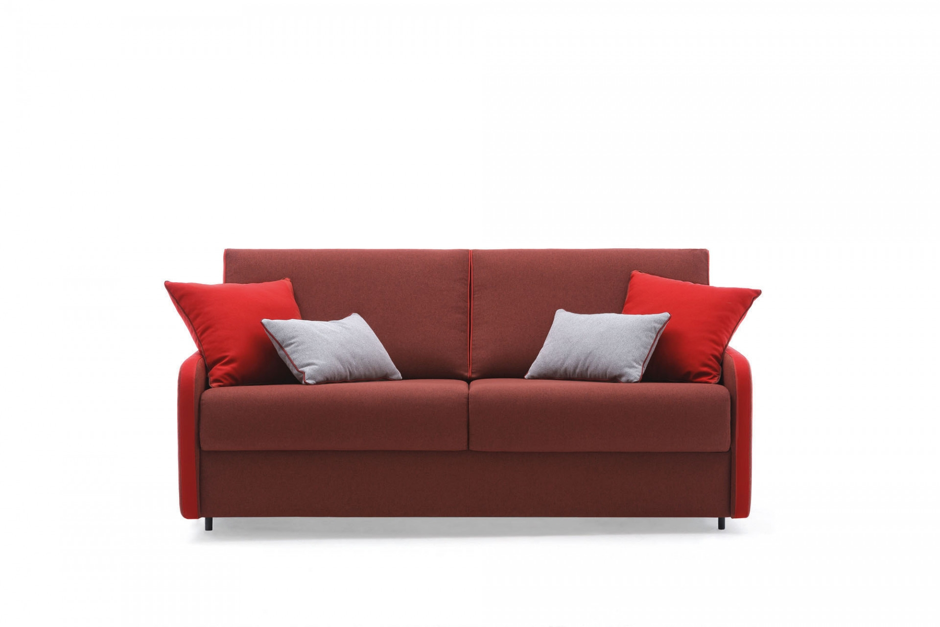 Canapea extensibila 3 locuri, tapitata cu stofa, Santorini Rosu, l180xA96xH94 cm