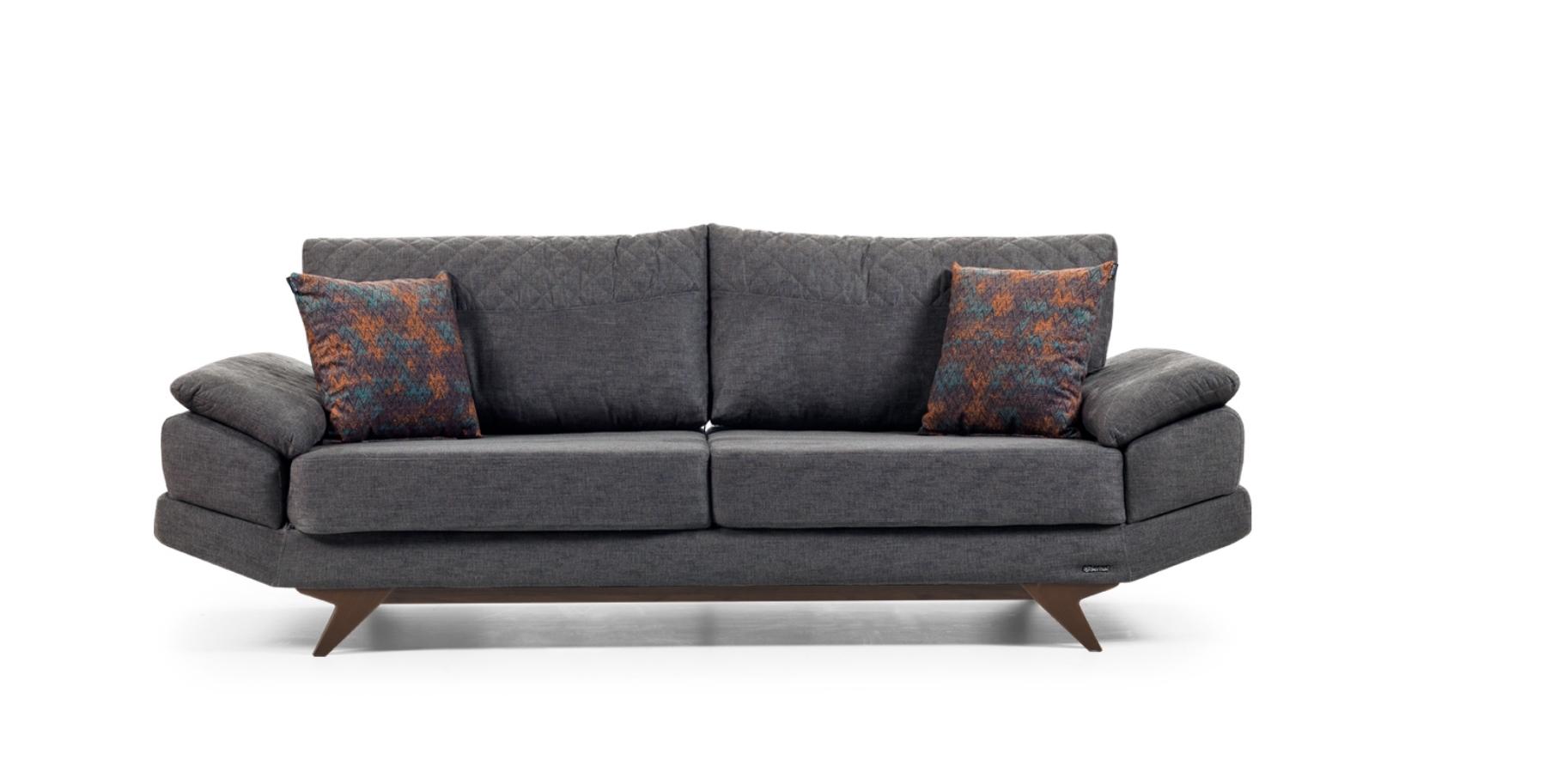 Canapea fixa 3 locuri Twice Grey K3