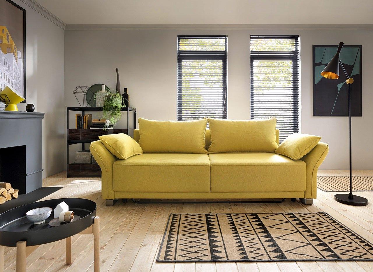 Canapea extensibila cu lada de depozitare, 3 locuri Loretto, l270xA100xH80 cm