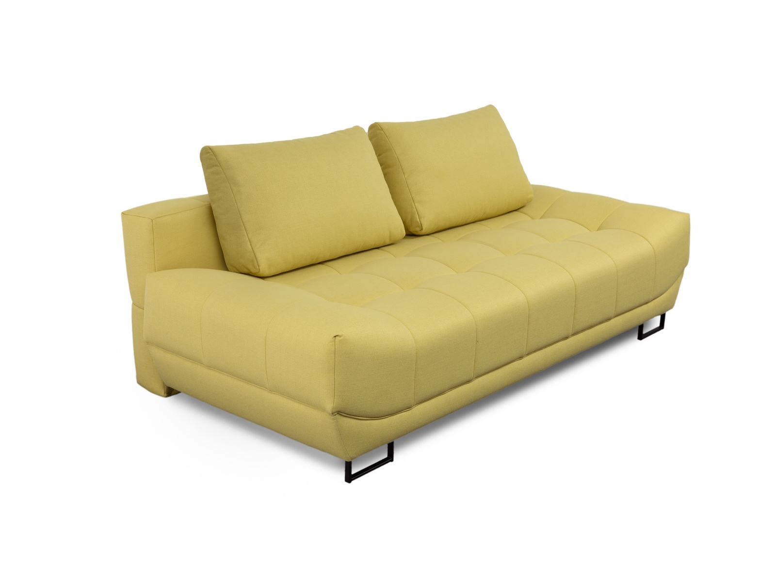 Canapea extensibila cu lada de depozitare, 3 locuri Venice Galben, l218xA112xH71 cm