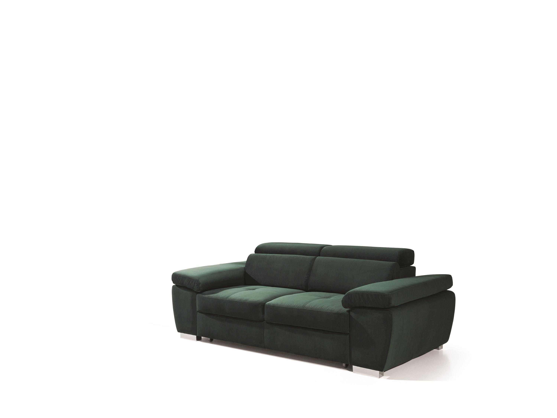 Canapea extensibila tapitata cu stofa, Rosso Verde, l216xA105xH78 cm
