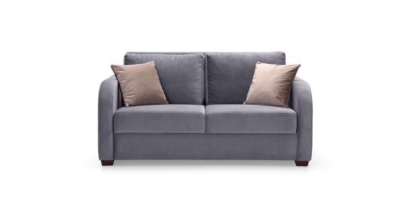 Canapea extensibila tapitata cu stofa, 2 locuri Marvin Gri, l160xA82xH98 cm