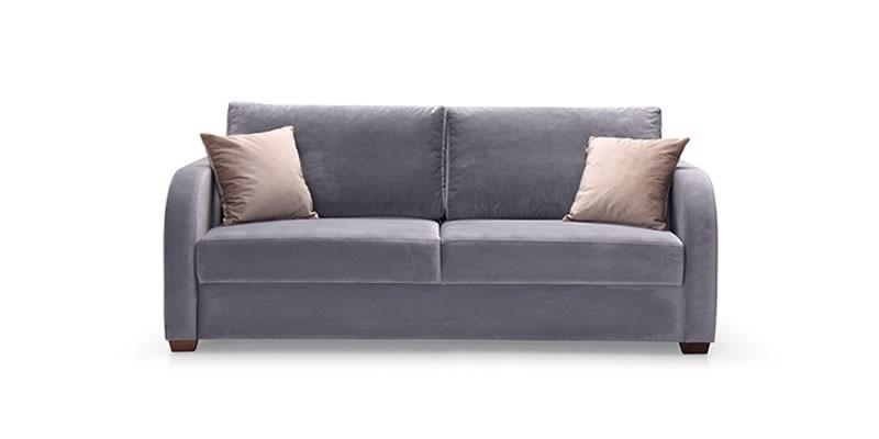 Canapea extensibila tapitata cu stofa, 2 locuri Marvin II Gri, l190xA82xH98 cm
