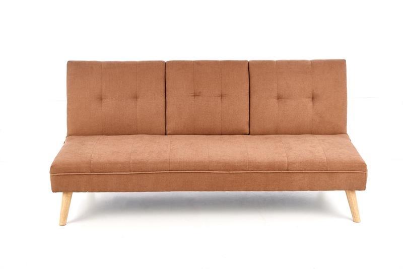 Canapea extensibila cu priza USB, tapitata cu stofa, 3 locuri Bacon Bej, l180xA88xH83 cm