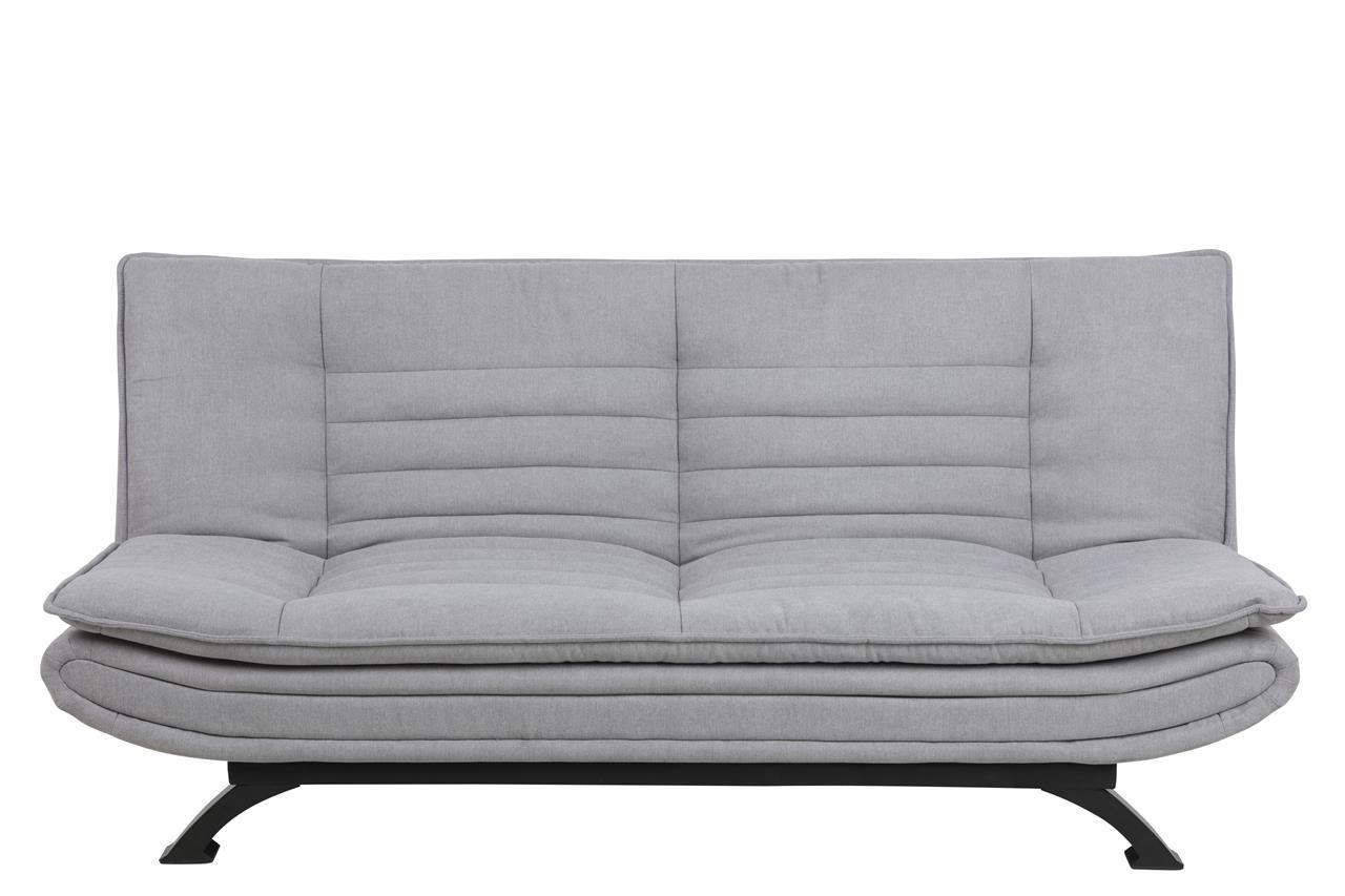 Canapea extensibila tapitata cu stofa, 3 locuri Faith Gri Deschis, l196xA98xH91 cm