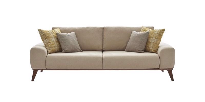 Canapea extensibila tapitata cu stofa, 3 locuri Forte Bej, l230xA102xH75 cm