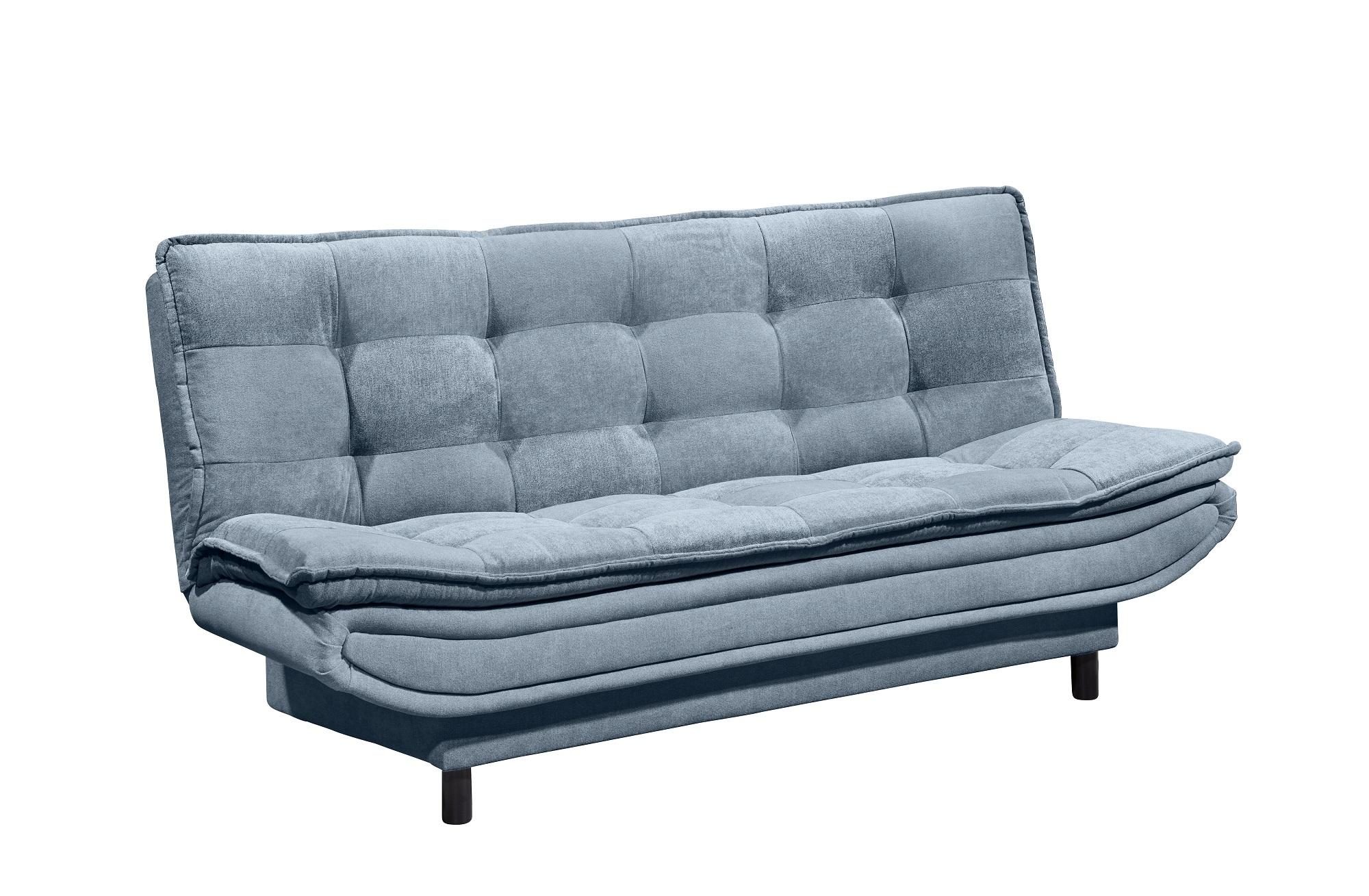 Canapea extensibila tapitata cu stofa, 3 locuri Patris Albastru, l188xA89xH90 cm somproduct.ro