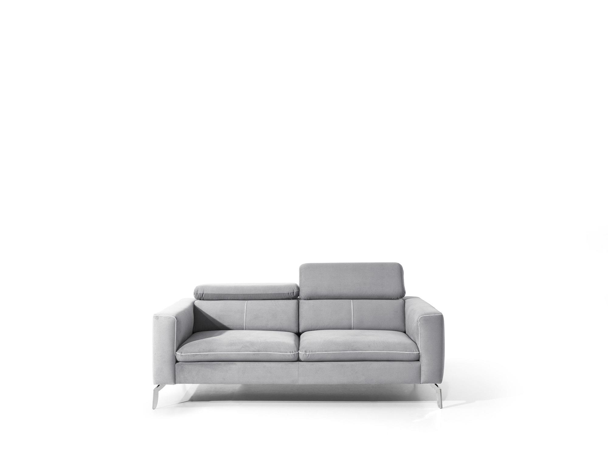 Canapea fixa 2 locuri, tapitata cu stofa, Arezza Gri, l170xA103xH75-95 cm somproduct.ro