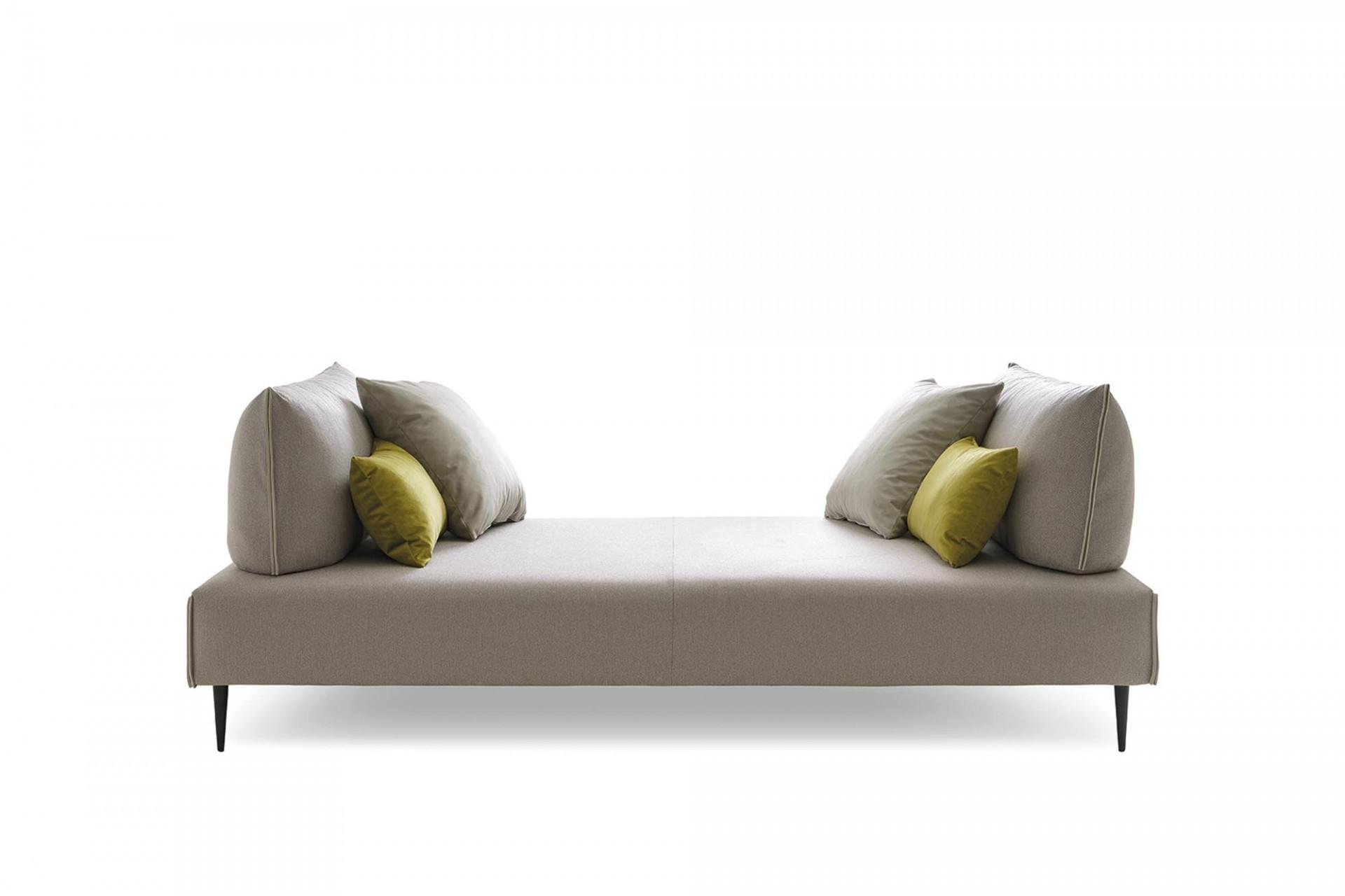 Canapea fixa 2 locuri, tapitata cu stofa, Bacio Grej, l187xA116xH83 cm imagine