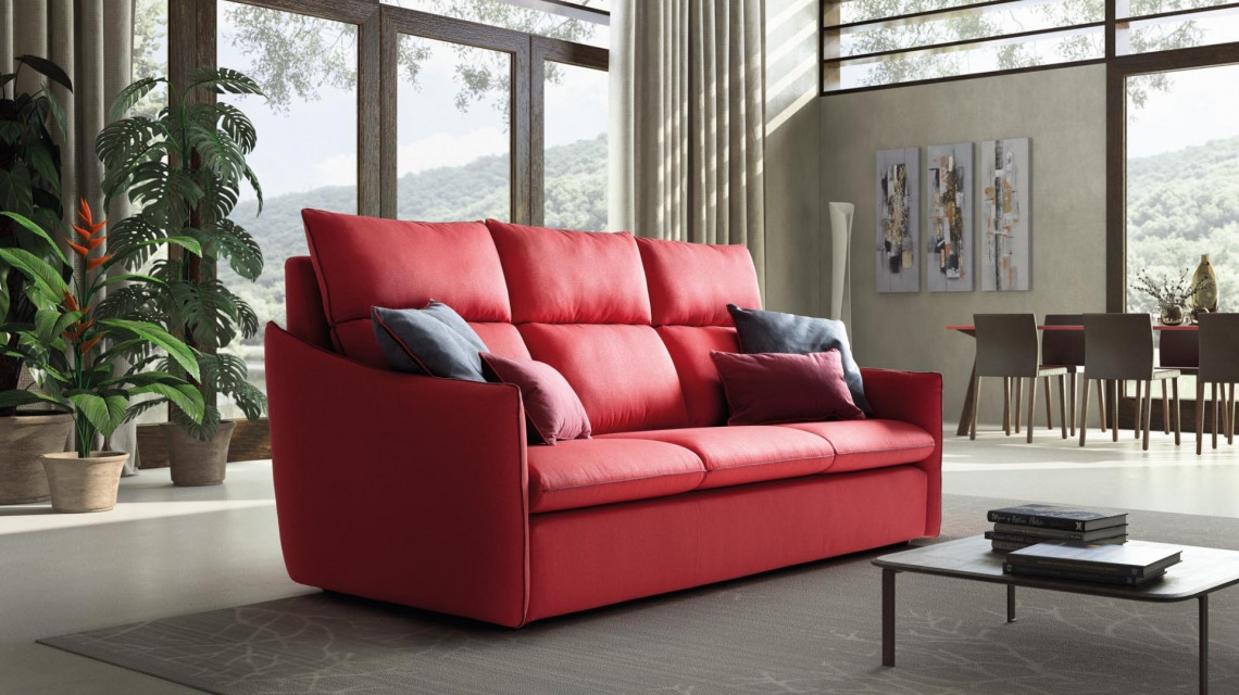 Canapea fixa, 3 locuri tapitata cu stofa, Helen Rosu, l231xA106xH109 cm imagine