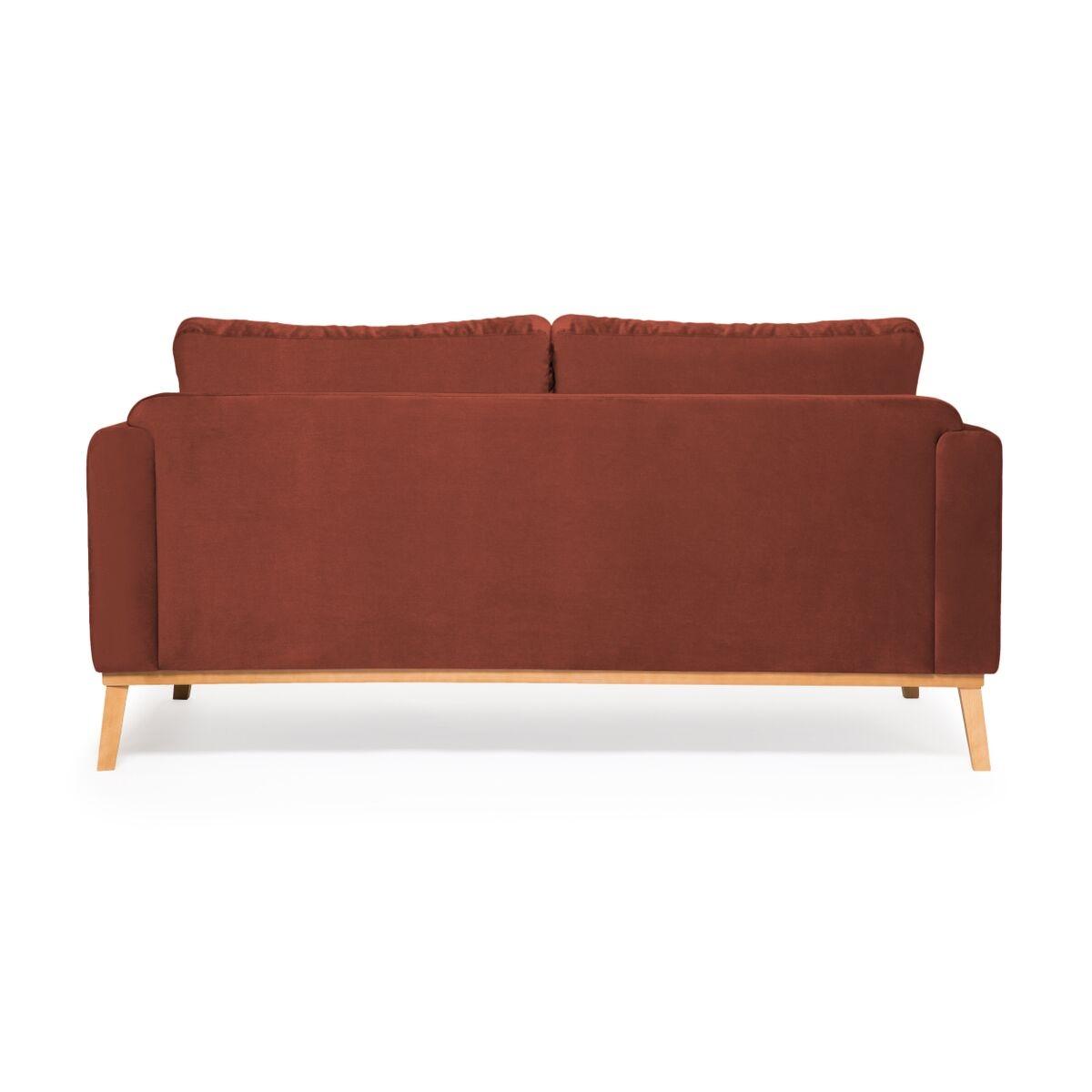 Canapea Fixa 3 locuri Milton Trend Marsala