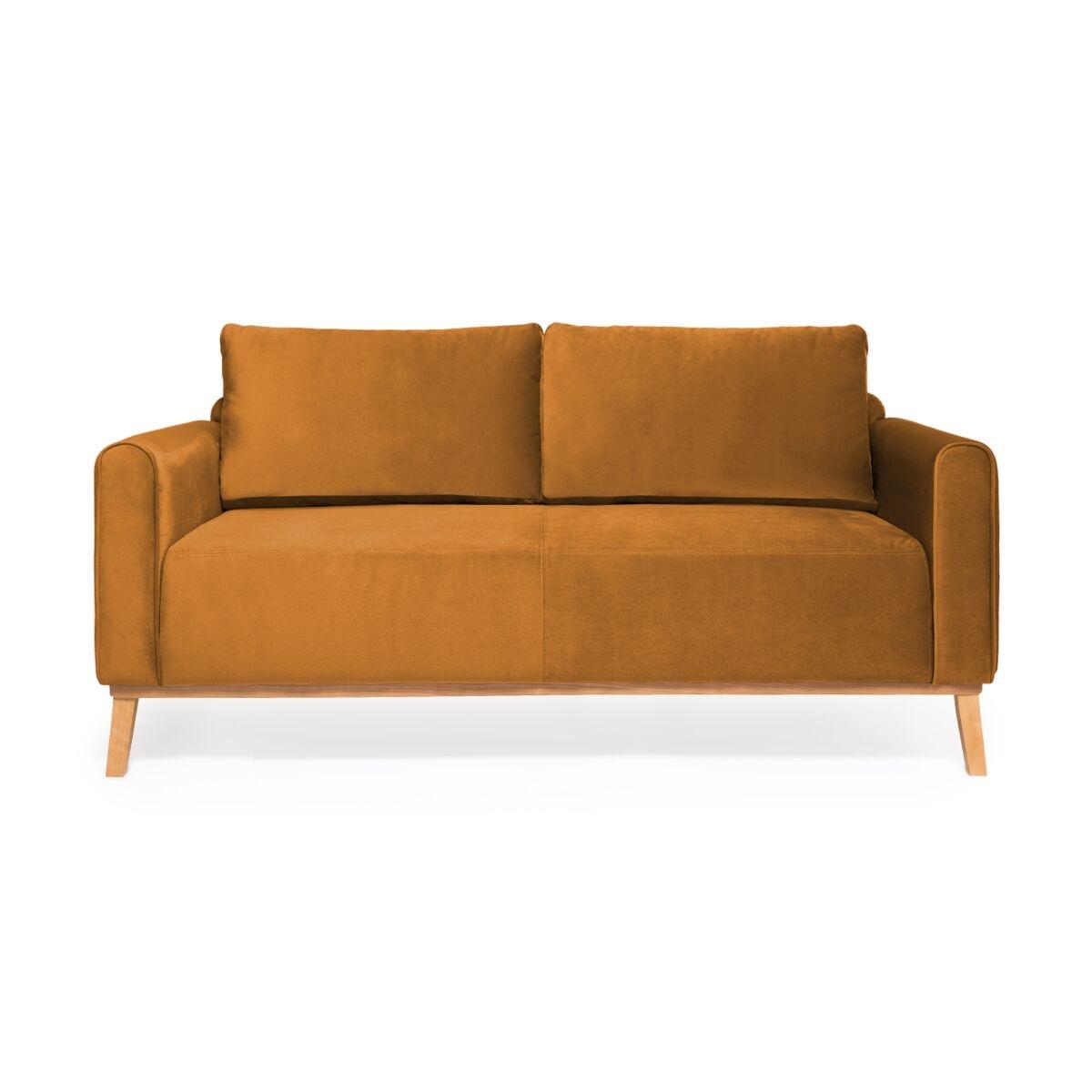 Canapea Fixa 3 locuri Milton Trend Mustard
