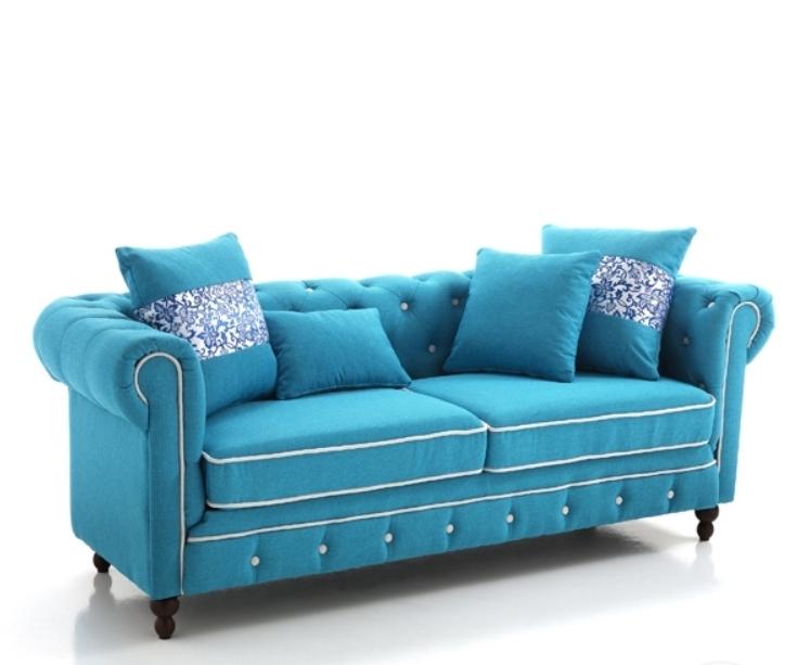 Canapea fixa 3 locuri Sky Blue