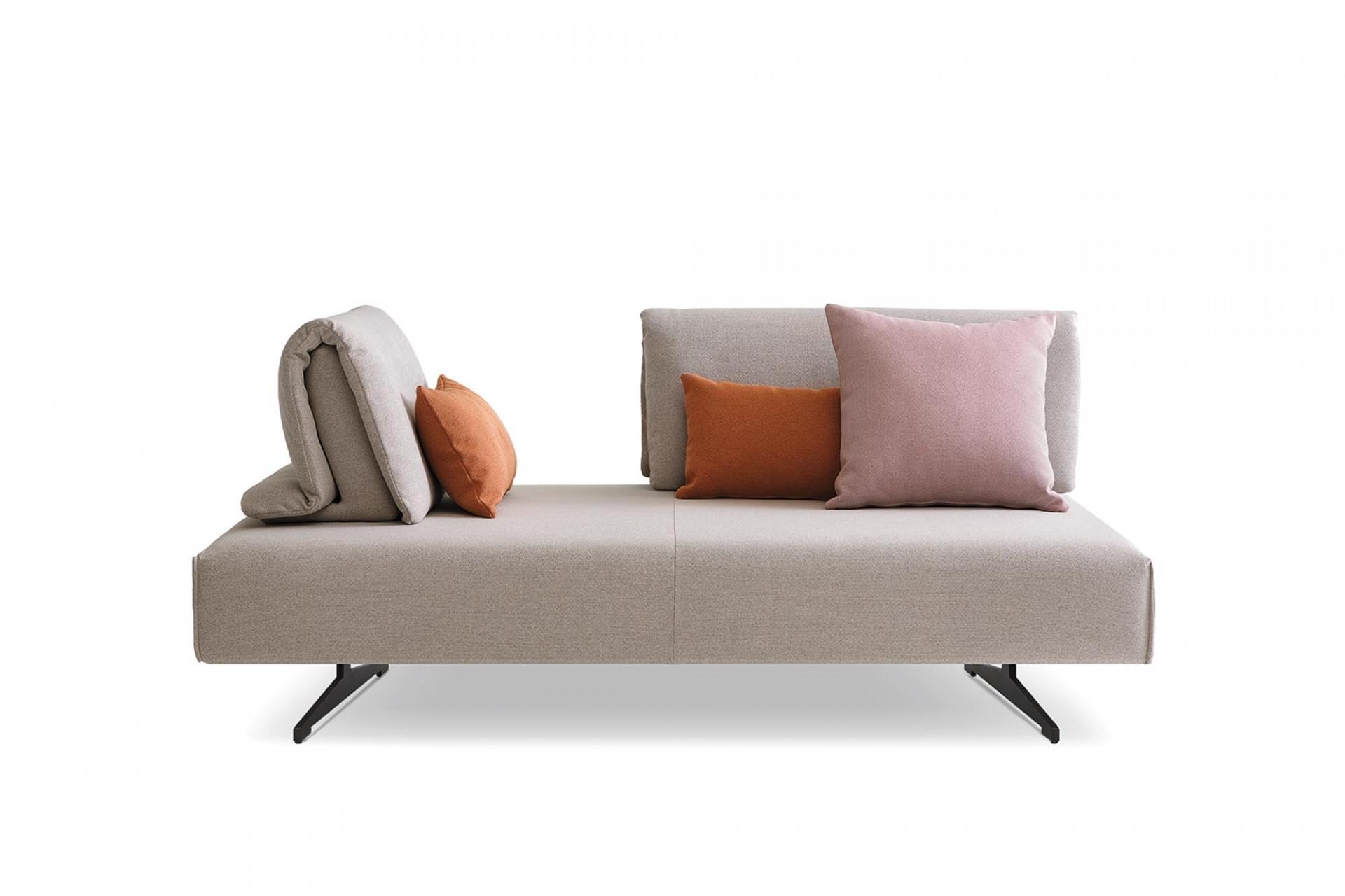 Canapea fixa 3 locuri, tapitata cu stofa, Abbraccio Grej, l217xA116xH83 cm