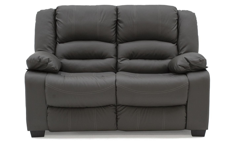Canapea fixa tapitata cu piele ecologica 2 locuri Barletto Grey l153xA96xH102 cm