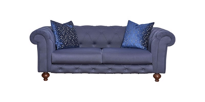 Canapea fixa tapitata cu stofa, 2 locuri Bristol Bleumarin, l200xA108xH73 cm