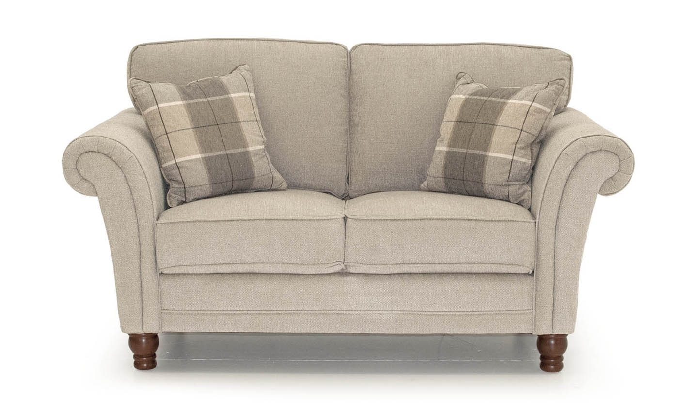 Canapea fixa tapitata cu stofa, 2 locuri Helmsdale Beige, l165xA90xH95 cm