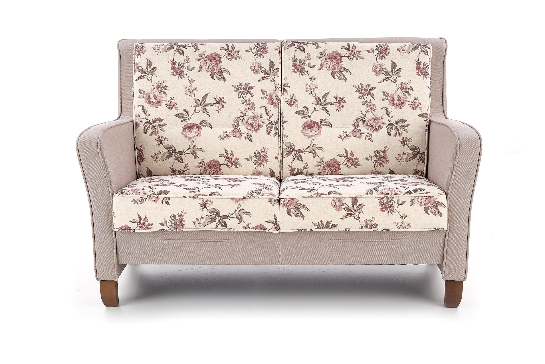 Canapea fixa tapitata cu stofa 2 locuri London XL Multicolour / Walnut l149xA70xH94 cm