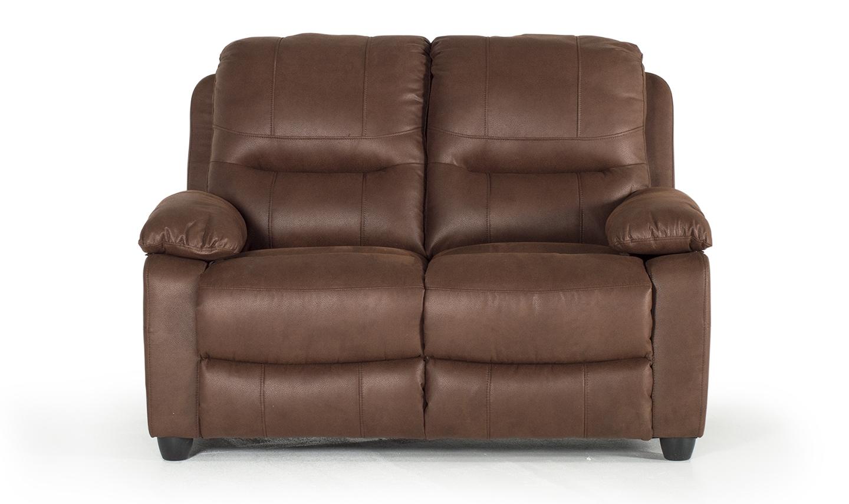 Canapea fixa tapitata cu stofa 2 locuri Morley Dark Brown l145xA91xH97 cm
