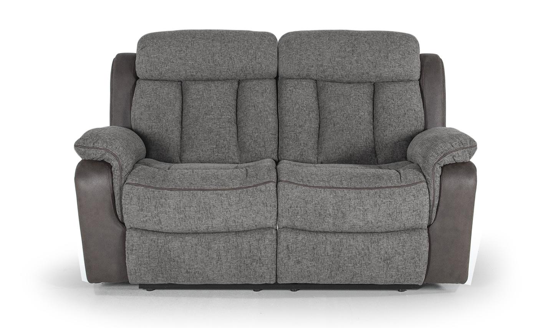 Canapea fixa tapitata cu stofa 2 locuri Recliner Brampton Grey l165xA95xH102 cm