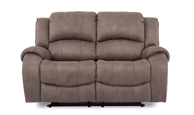Canapea fixa tapitata cu stofa 2 locuri Recliner Darwin Grey l1676xA1067xH1028 cm