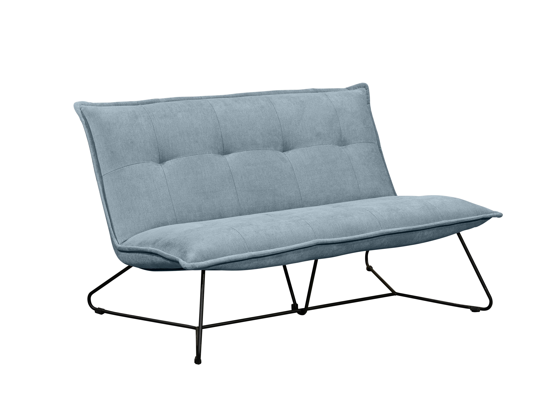 Canapea fixa tapitata cu stofa 2 locuri, Victorio Albastru, l131xA86xH76 cm