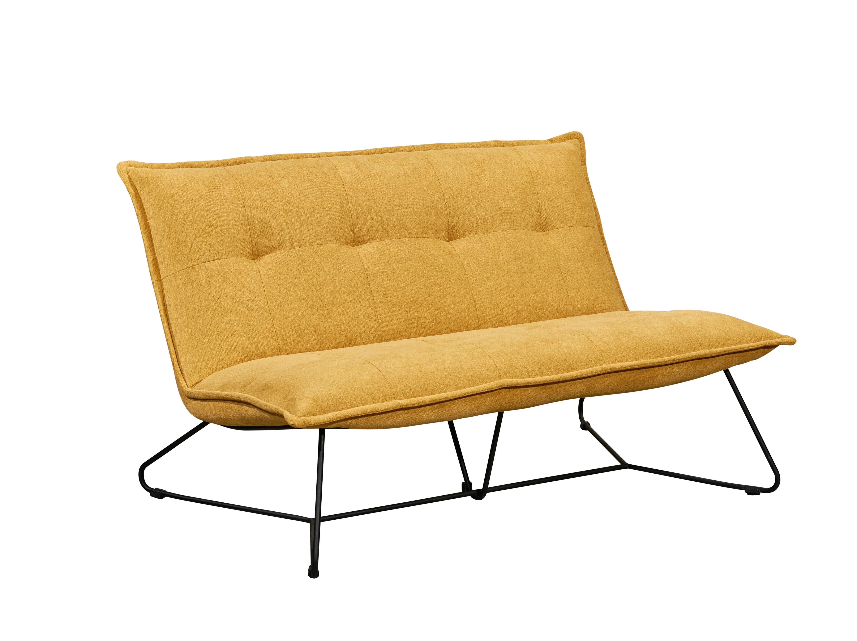 Canapea fixa tapitata cu stofa, 2 locuri, Victorio Mustariu, l131xA86xH76 cm
