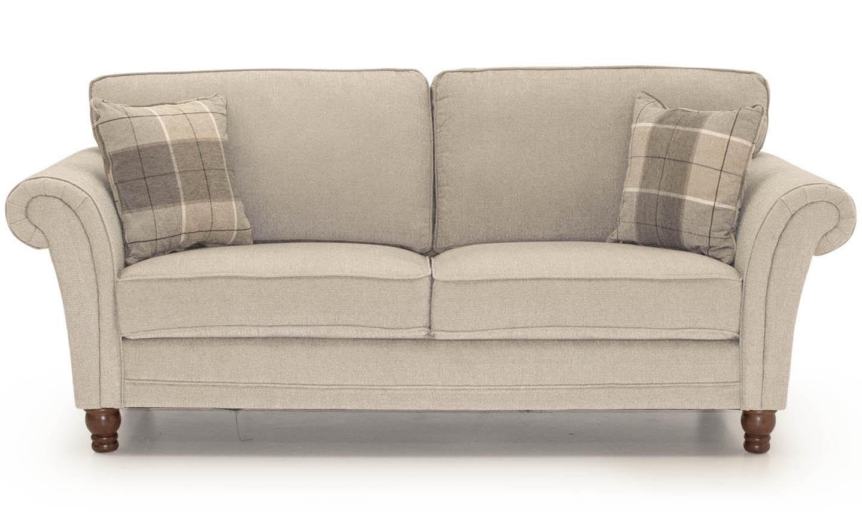 Canapea fixa tapitata cu stofa 3 locuri Helmsdale Beige l216xA90xH95 cm