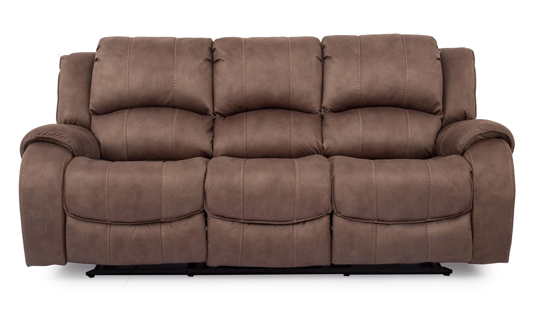 Canapea fixa tapitata cu stofa 3 locuri Recliner Darwin Brown l2235xA1067xH1029 cm