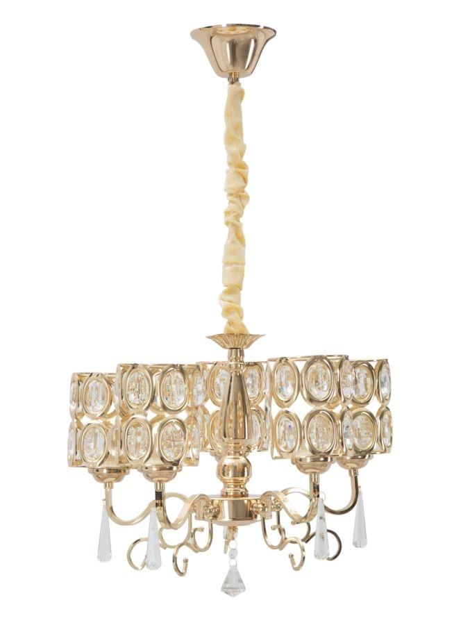 Candelabru Glam Cristal Auriu