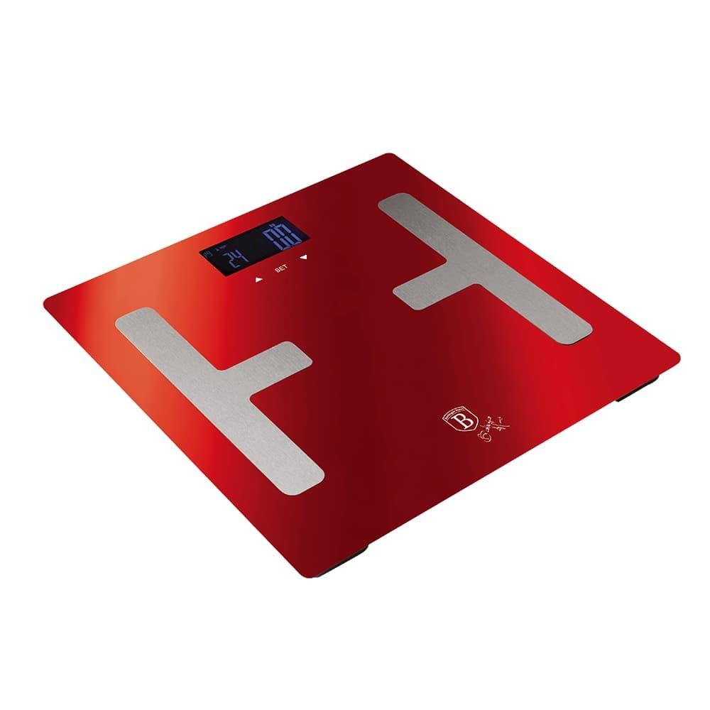Cantar de baie digital cu analizator corporal, 150 kg, Metallic Line Burgundy
