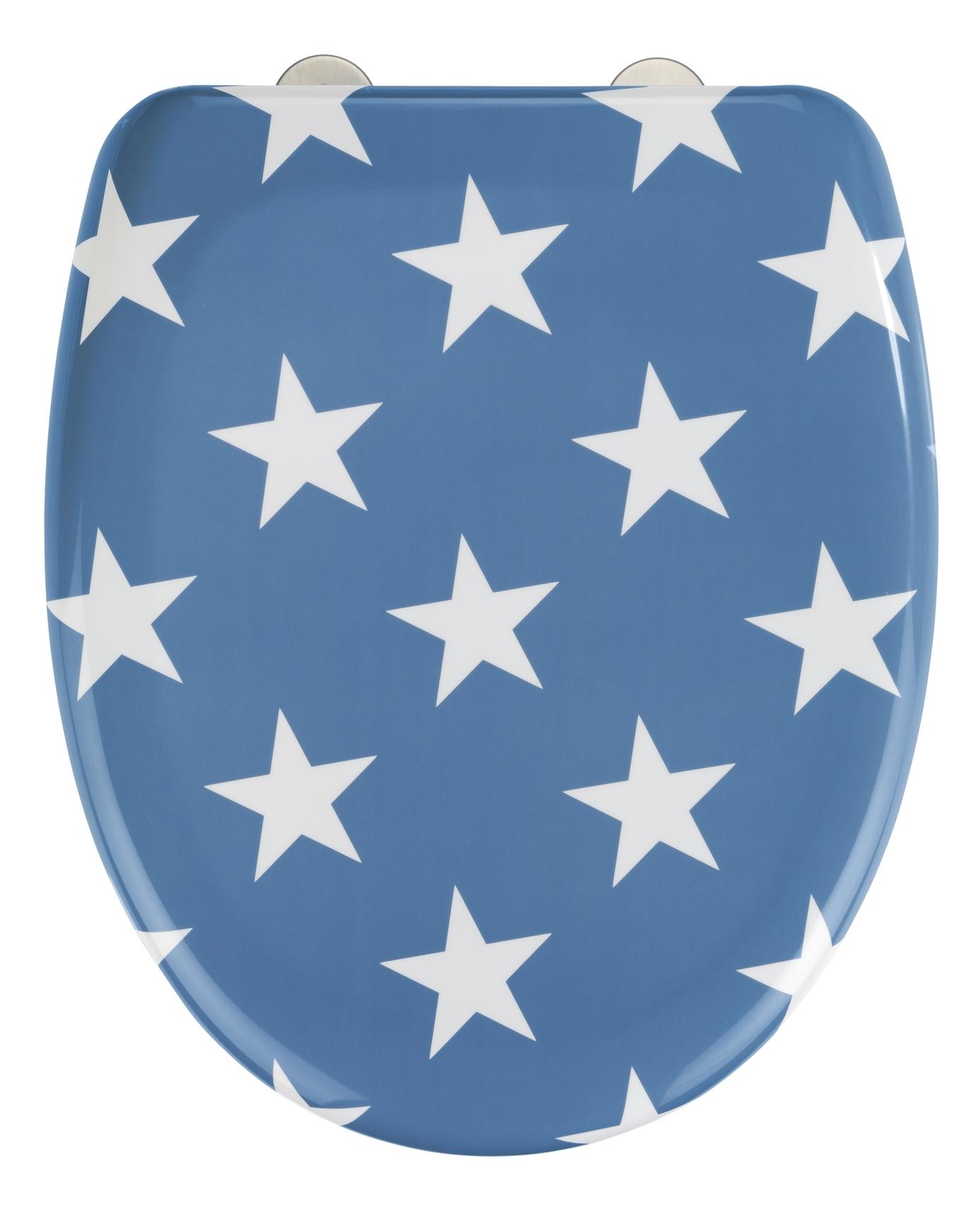 Capac toaleta din duroplast, Stella Albastru, l38xA45 cm