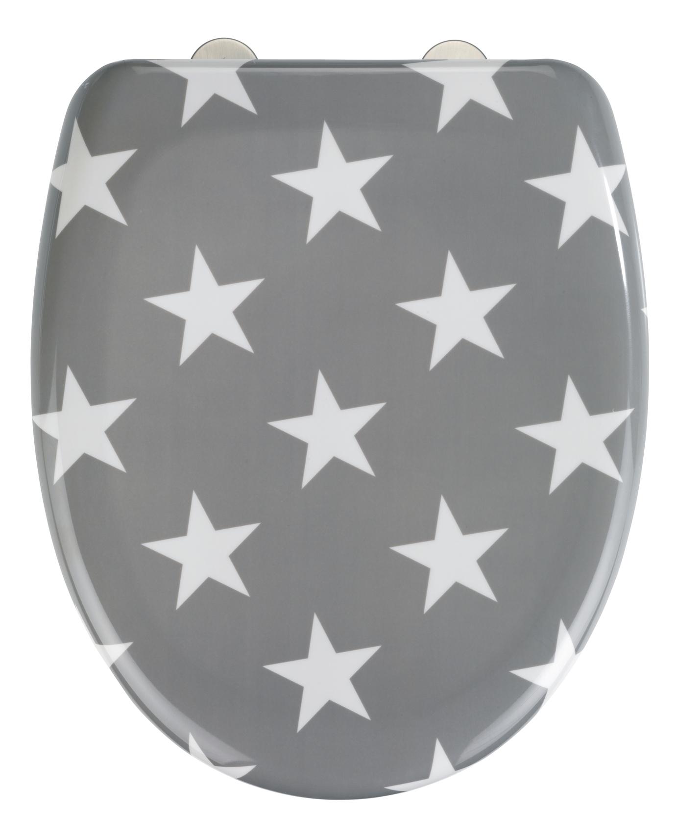 Capac toaleta din duroplast, Stella Gri, l38xA45 cm imagine