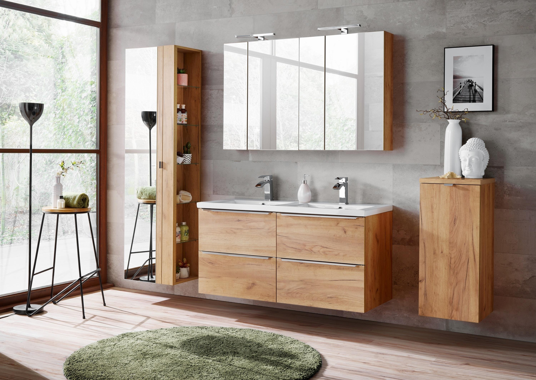 Set Mobilier pentru baie, 7 piese, Capri Oak XL imagine
