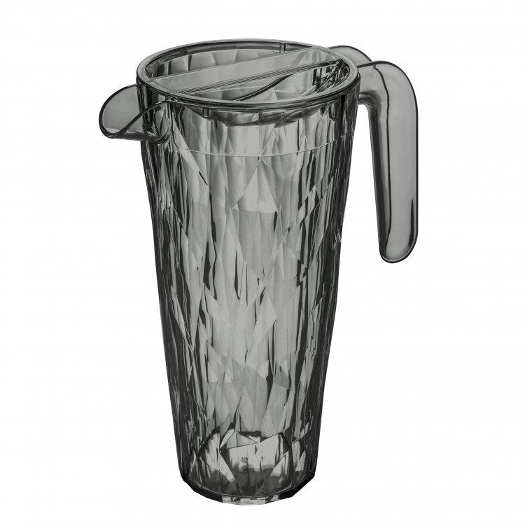 Carafa cu capac pentru apa Unbreakable Superglas Gri, Club, 1,5L