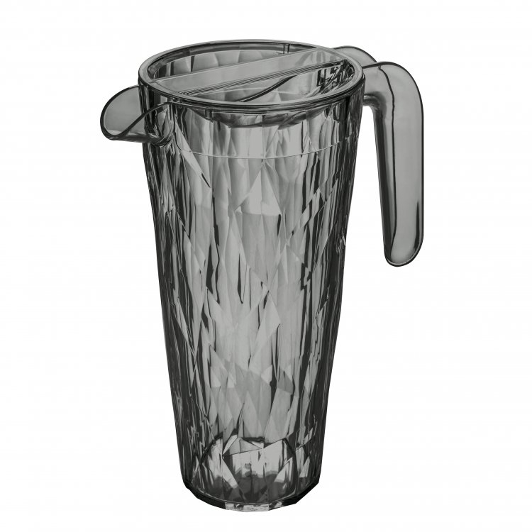 Carafa cu capac pentru apa Unbreakable Superglas Gri, Club, 1,5L somproduct.ro