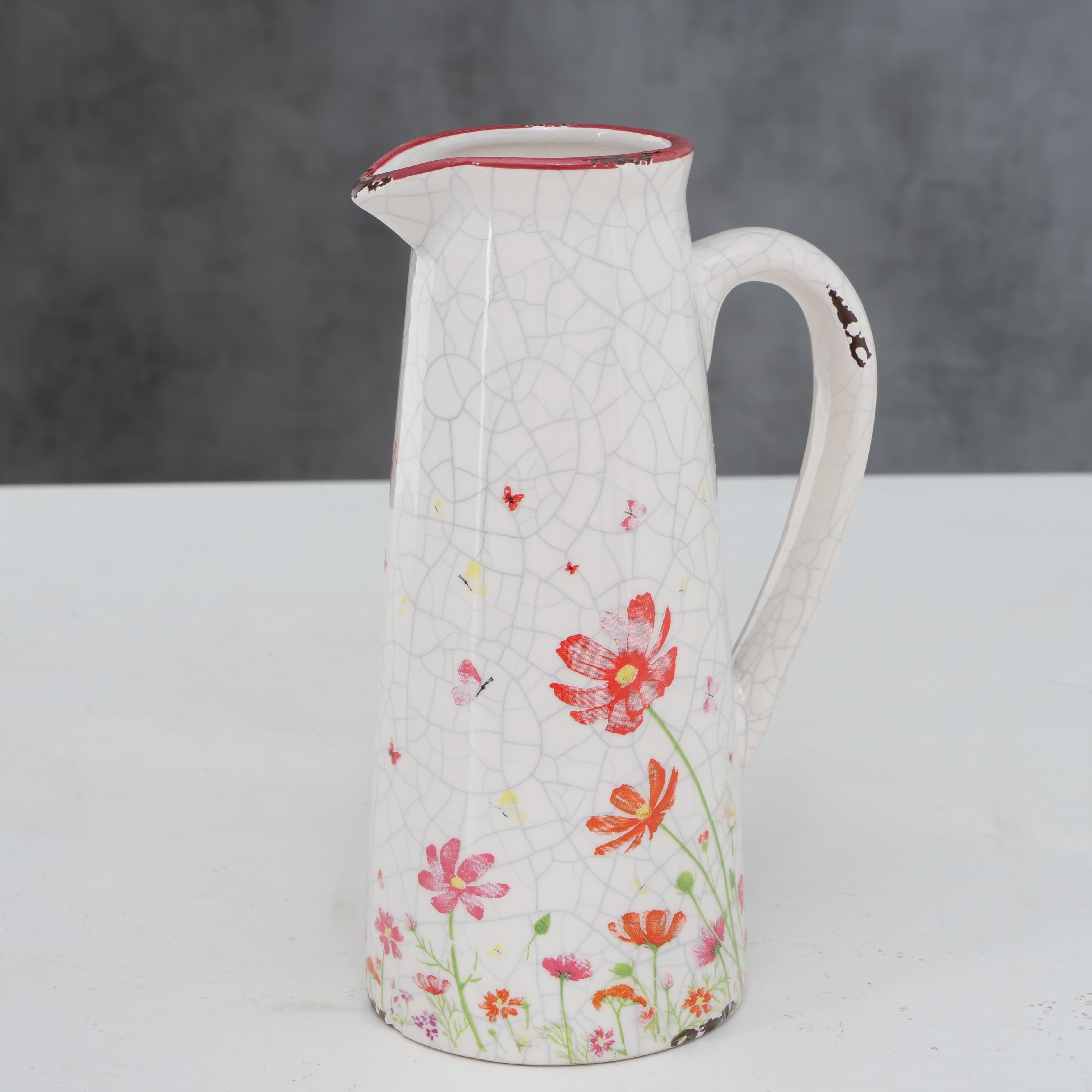Carafa decorativa din ceramica Cosmea Multicolor, 650 ml