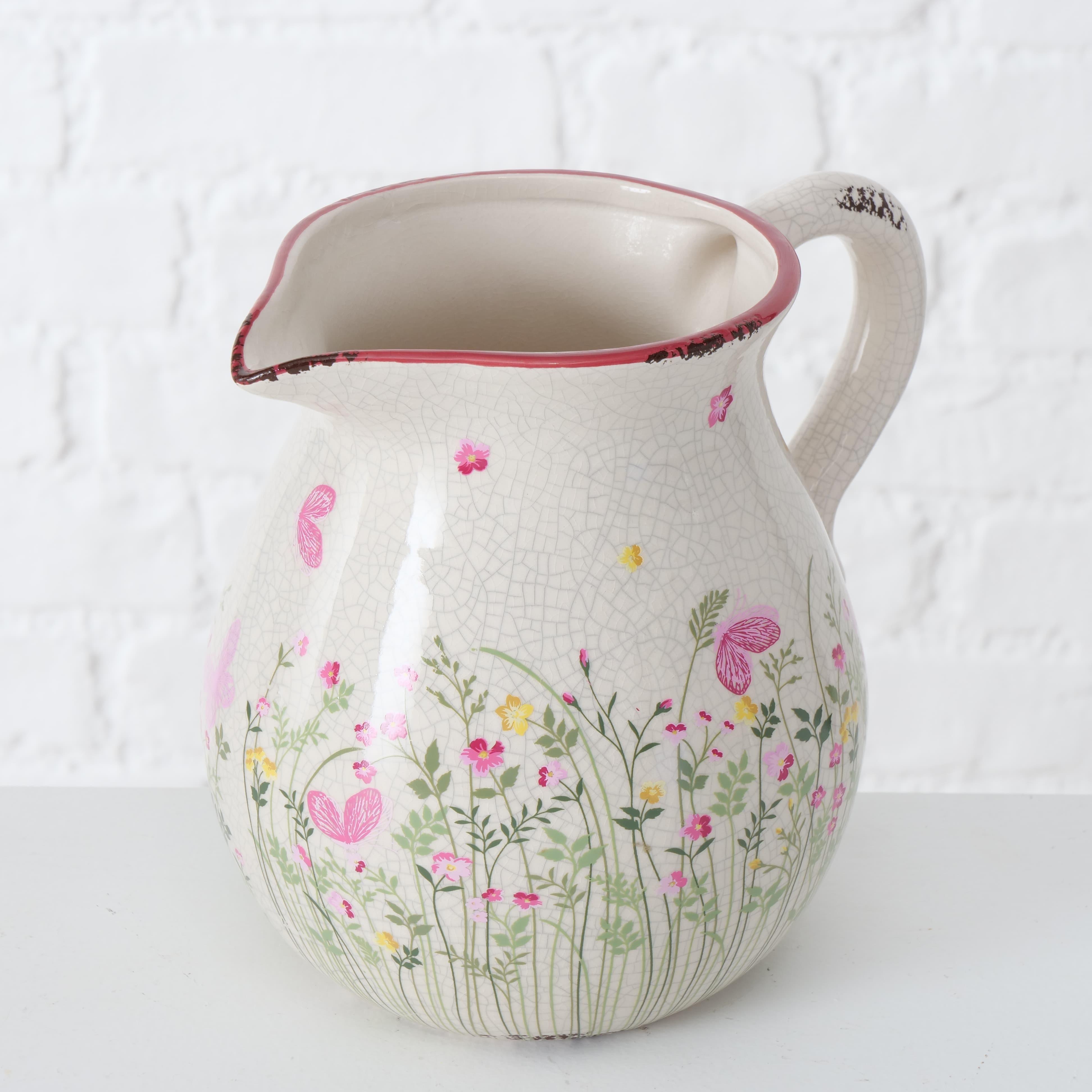 Carafa decorativa din ceramica Rosalie Multicolor, 2,5L