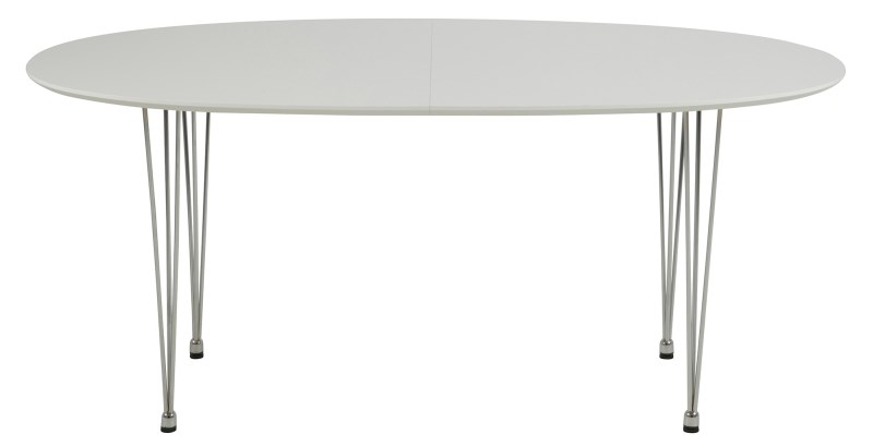 Masa extensibila din MDF Carina White, L170xl100xh74 cm