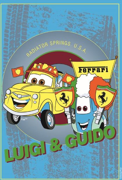 Covor Disney Kids Cars Luigi & Guido, Imprimat Digital