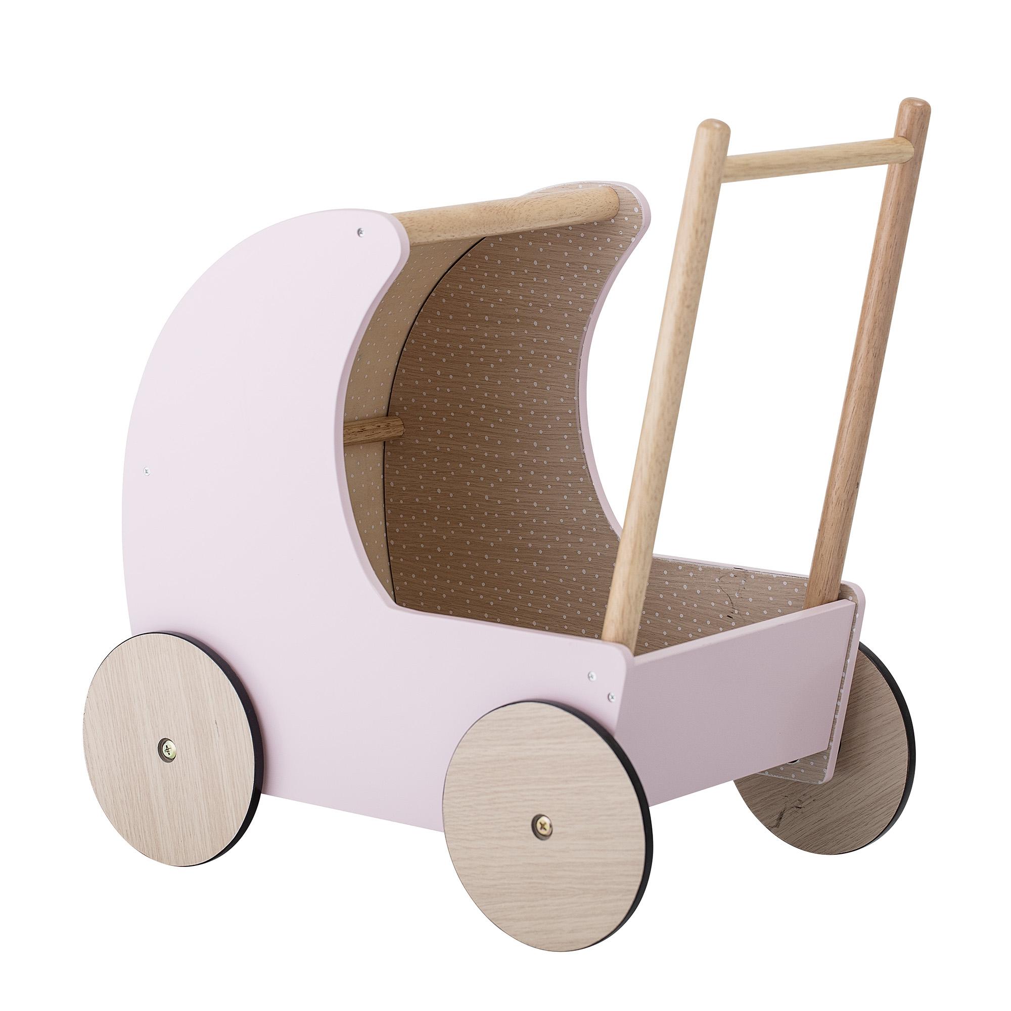 Carucior pentru copii Toy Pram din MDF, Rose, L50xl25xh40 cm din categoria Mobiler copii