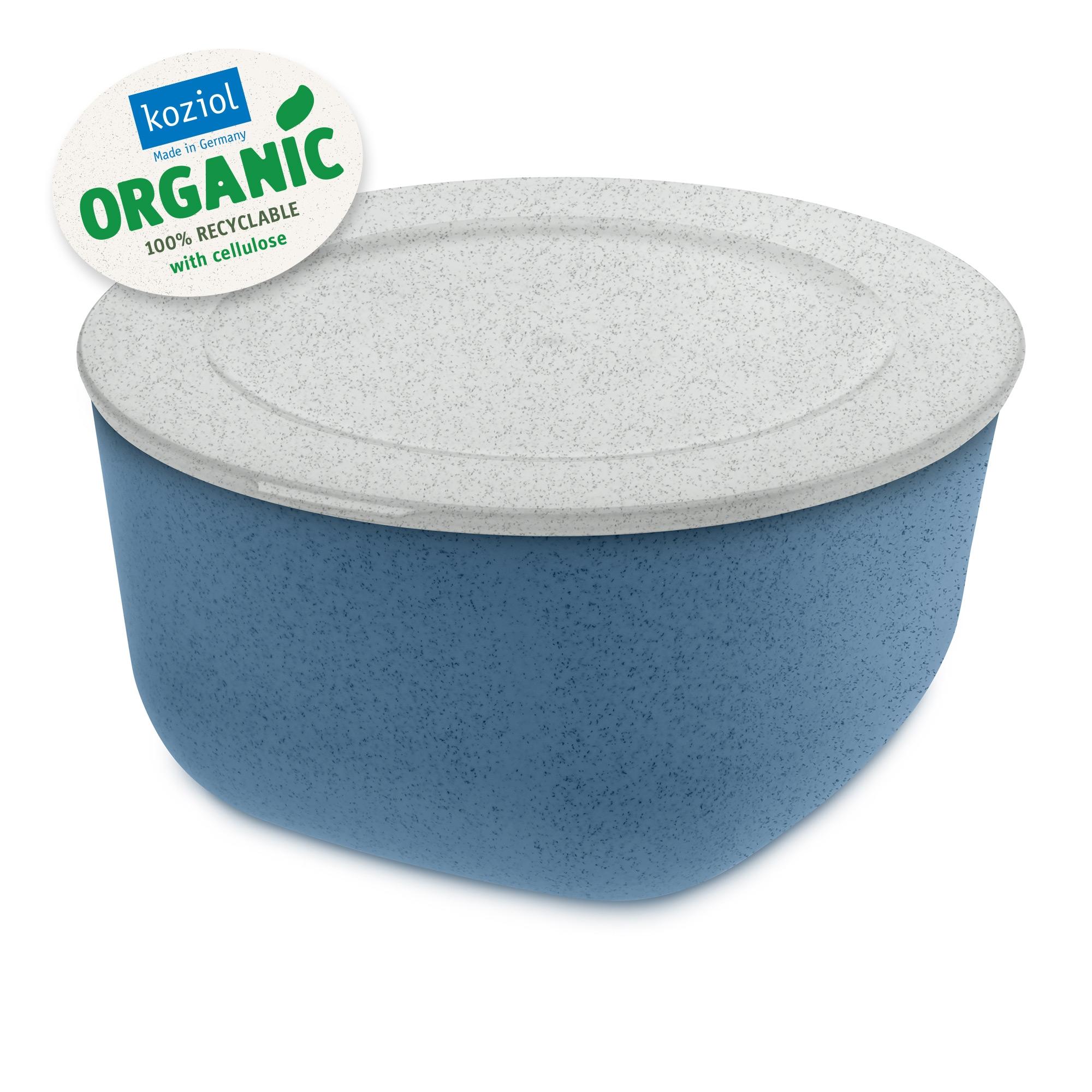Caserola cu capac, 100% Reciclabil, Connect L Organic Albastru, 2 L