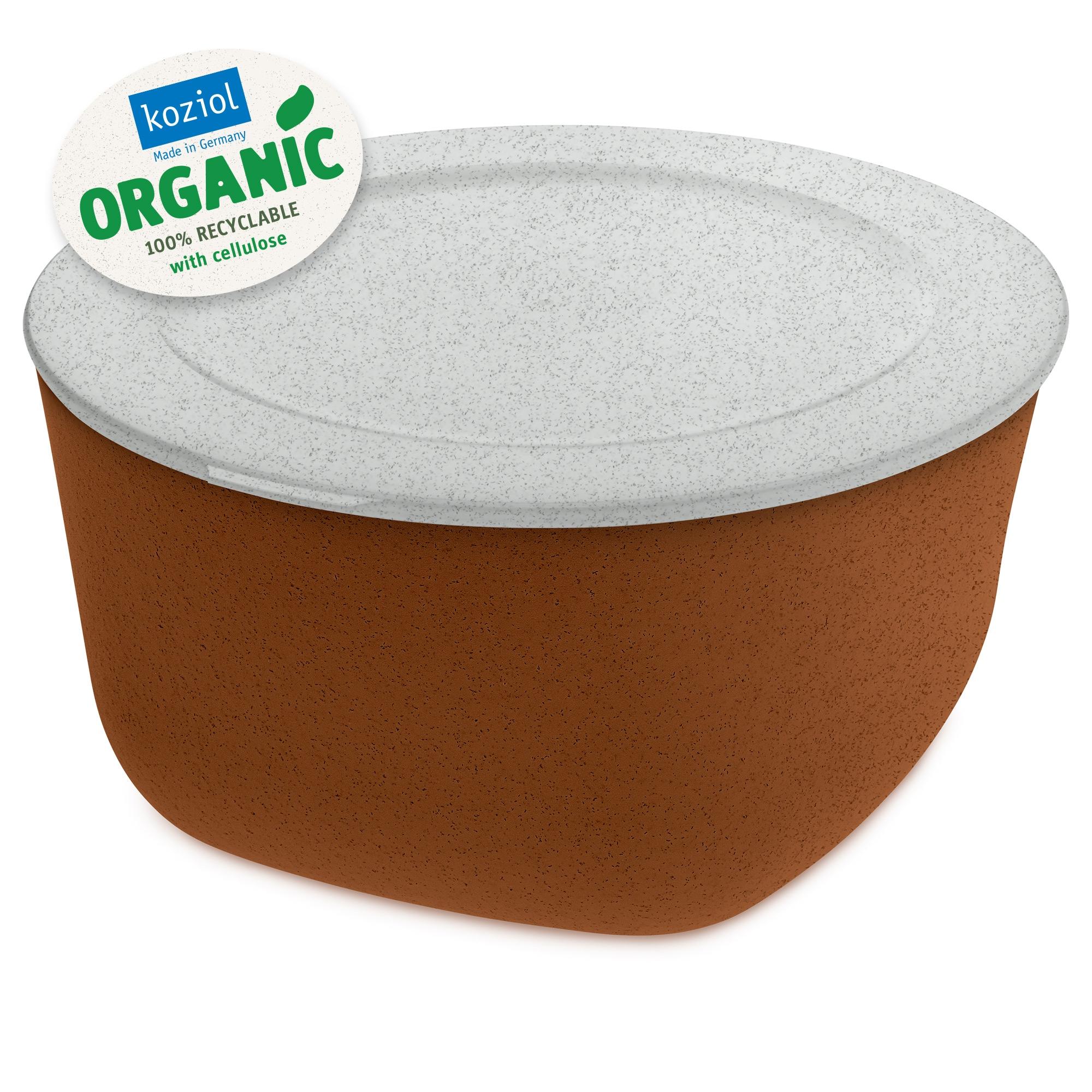 Caserola cu capac, 100% Reciclabil, Connect XL Organic Ruginiu, 4 L