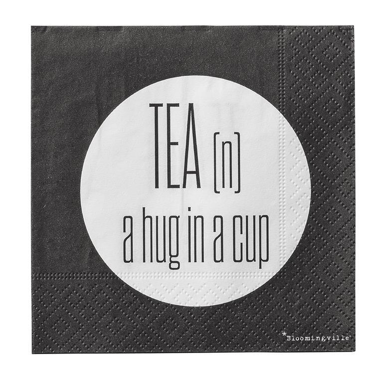 Pachet Servetele  Tea n a hug... , l25xL25 cm, 20 buc/pachet title=Pachet Servetele  Tea n a hug... , l25xL25 cm, 20 buc/pachet