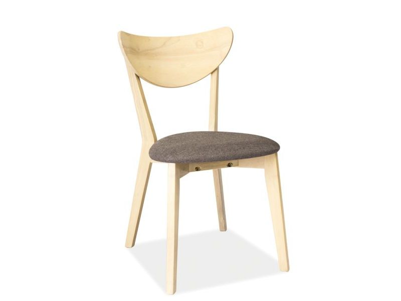 Scaun din lemn masiv tapitat cu stofa gri CD-37