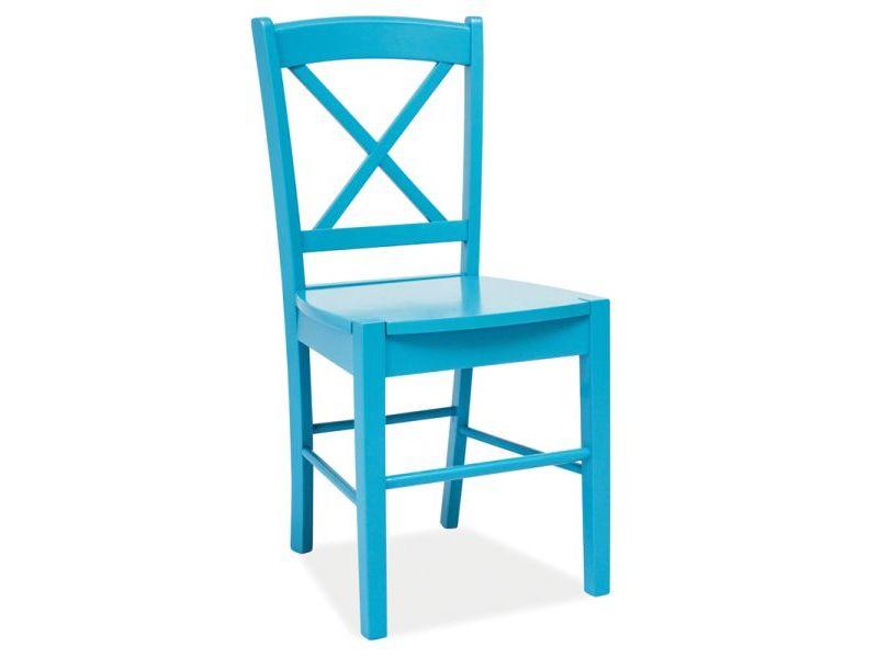 Scaun din lemn CD-56 Blue, l40xA36xH85 cm imagine