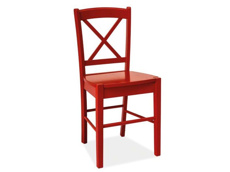 Scaun din lemn CD-56 rosu