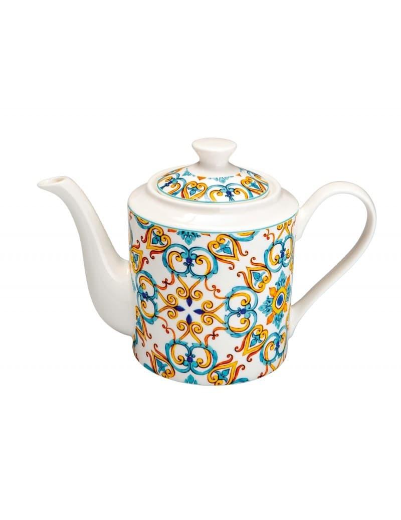 Ceainic din portelan, Medicea Multicolor, 1 L somproduct.ro