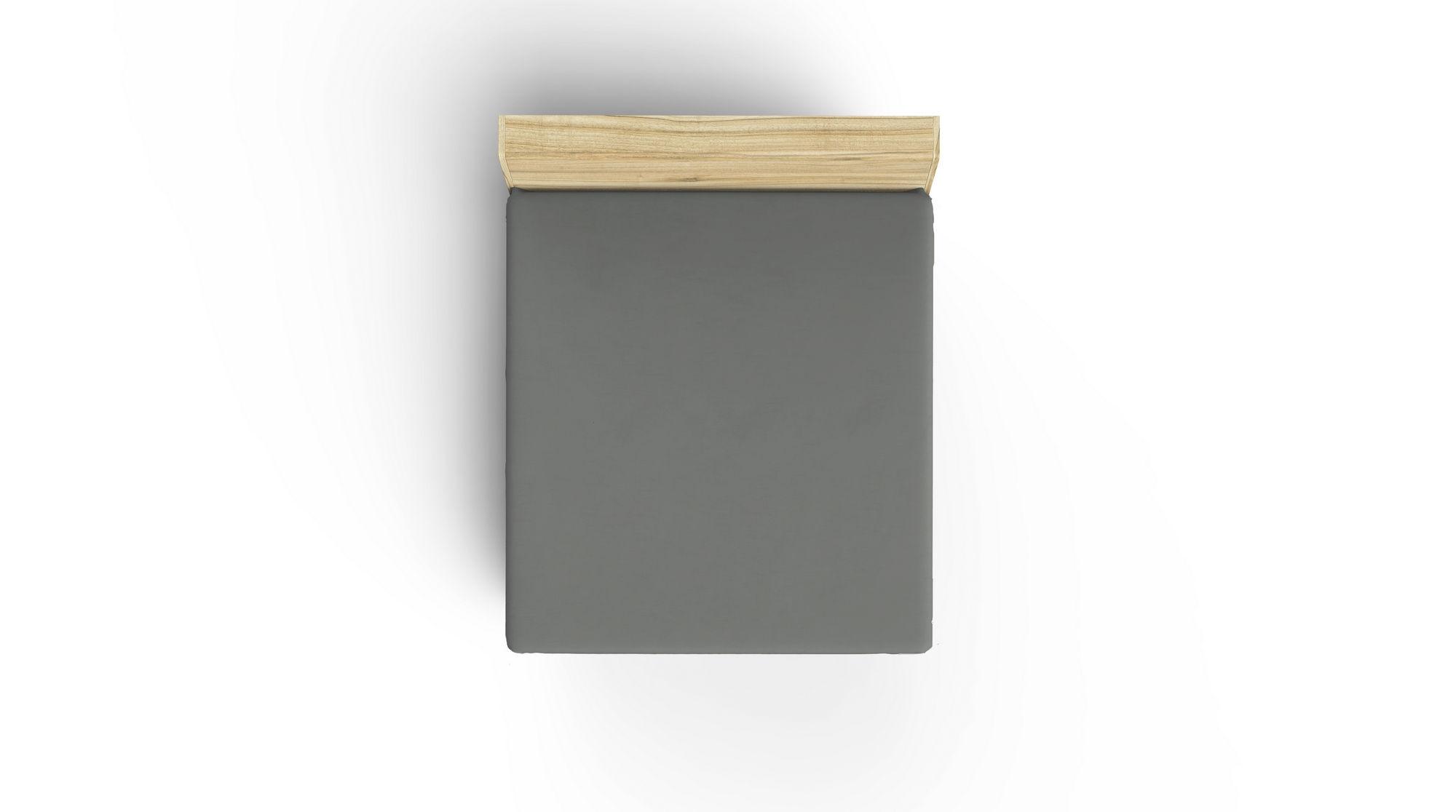 Cearceaf din bumbac Ranforce, King Gri Inchis, 160 x 200 cm imagine 2021