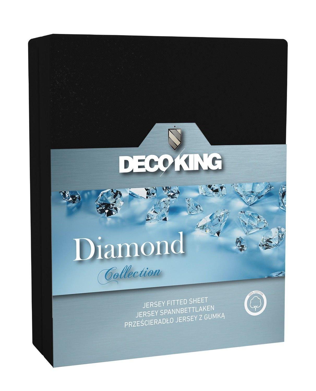 Cearceaf pentru saltea cu elastic Diamond Black